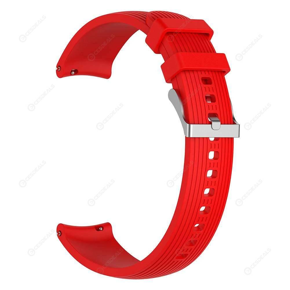 20mm Silicone Watchband Wrist Belt for Samsung Galaxy Watch 42mm (Red S)