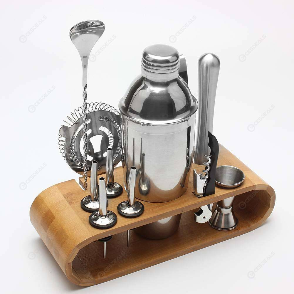 Купить со скидкой 12pcs/set Stainless Steel Liquor Red Wine Cocktail Shaker Bar Wine Mixer