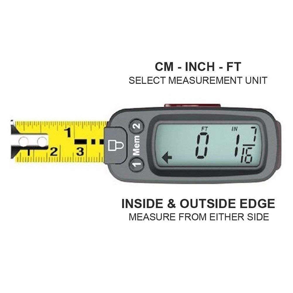 eTAPE 5m Stainless Steel LCD Digital Tape Measure Circumferences Measuring Tape