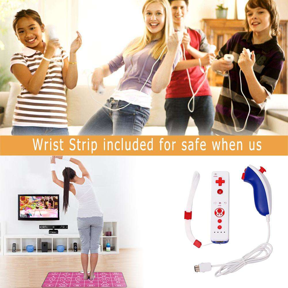 Built-in Motion Plus Wireless Remote Controller For Nintend Wii Nunchuck