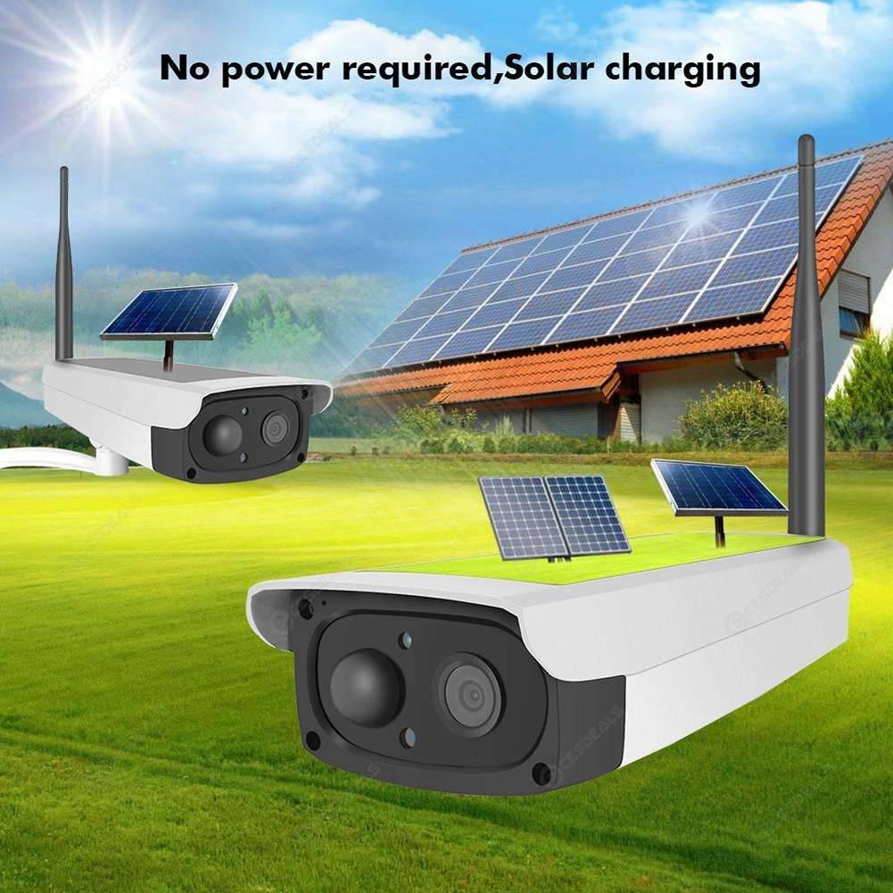 Hiseeu Solar Panel Rechargeable Battery 1080P Full HD Security WiFi Camera