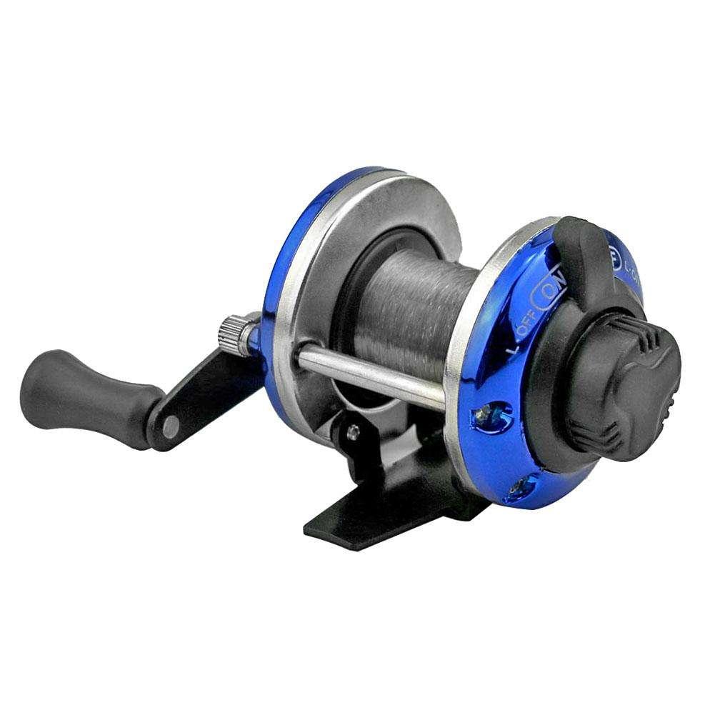 Mini Metal Bait Casting Spinning Boat Ice Fishing Reel Water Drop Wheel 50m Wire