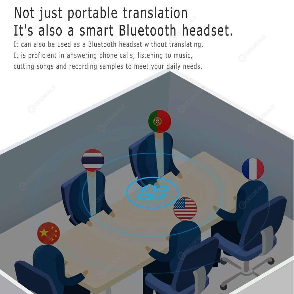 26 Language Instant Translator Bluetooth 5.0 Earphone Interpreter (Black)
