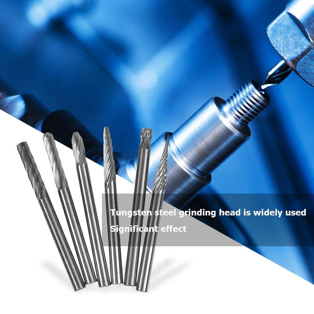 20pcs Carbide Tungsten Steel Rotary File Grinding Heads Woodworking Drill