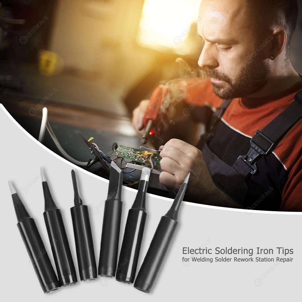 1 Set Electric Soldering Iron Tips for Welding Solder Rework Station Repair