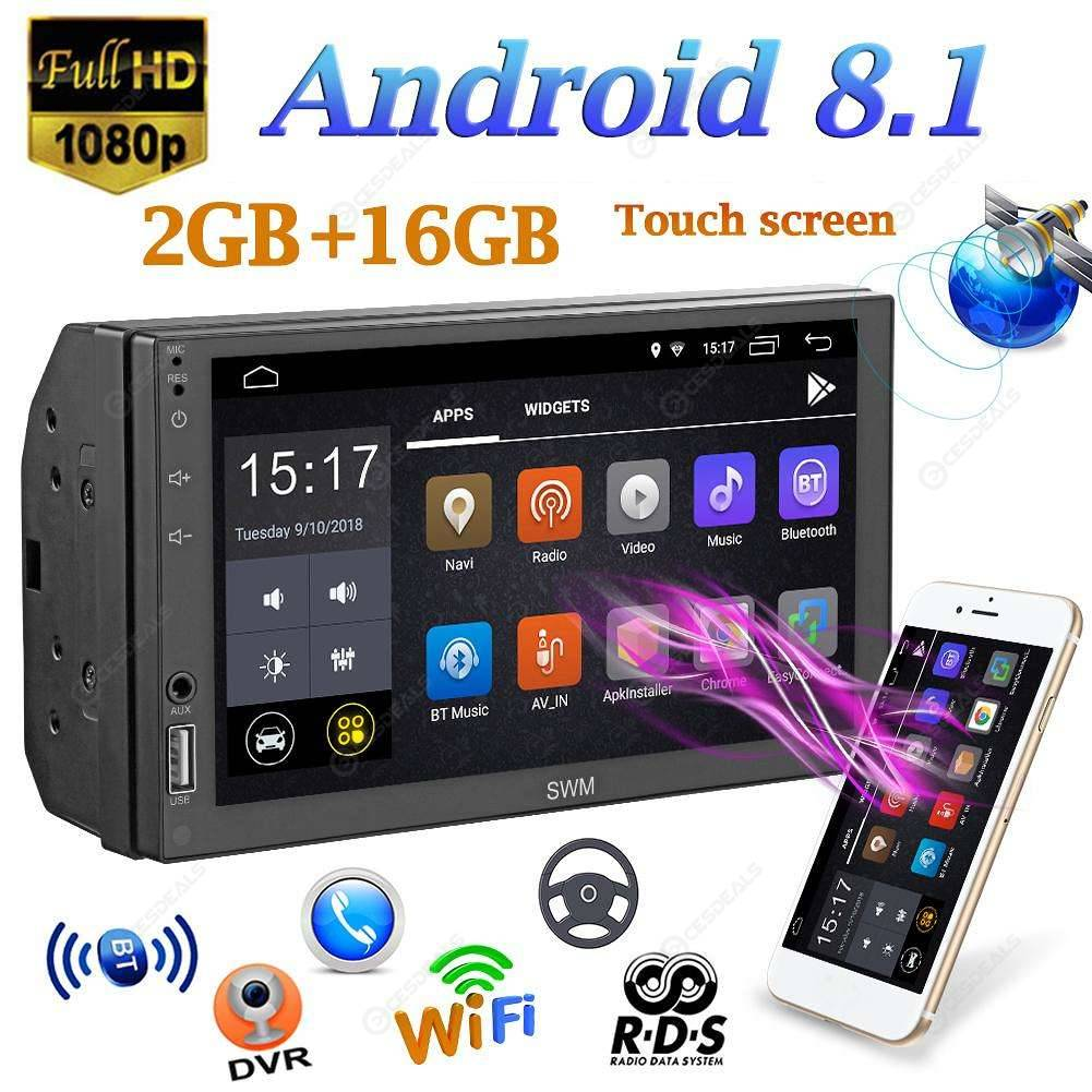SWM A1 2Din Quad-core Android8 1 Autoradio Stereo MP5 Player GPS Navi FM AM