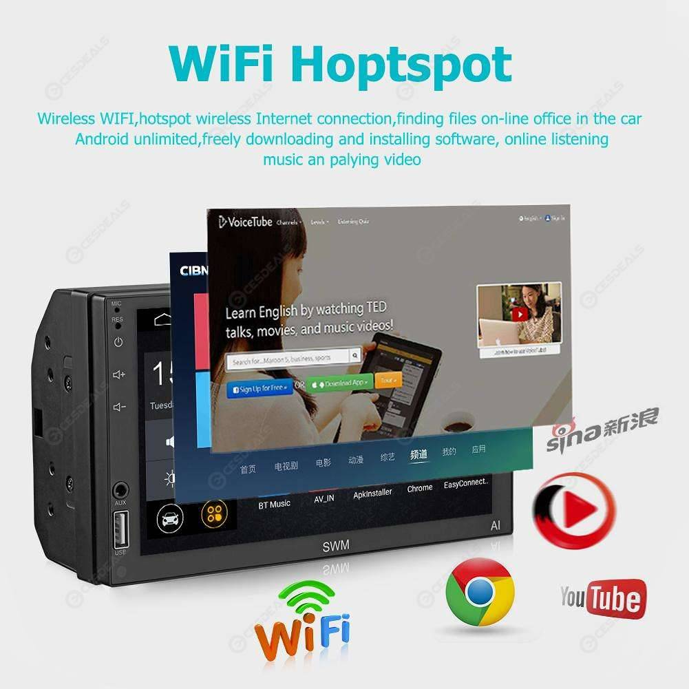 SWM A1 2Din Quad-core Android8.1 Car MP5 GPS Navi FM AM Radio (w/ Camera)