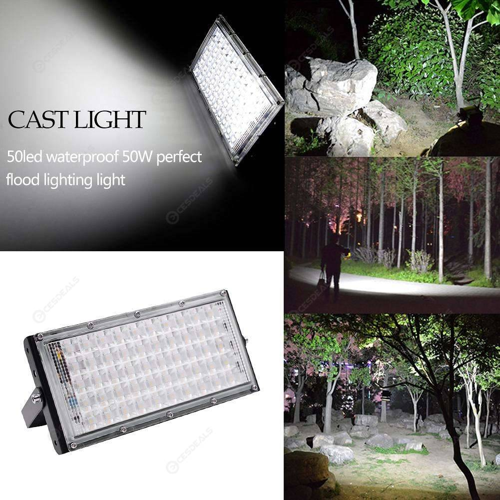 50LED Floodlight Waterproof Flood Light Street Lamp Landscape Light (Black)