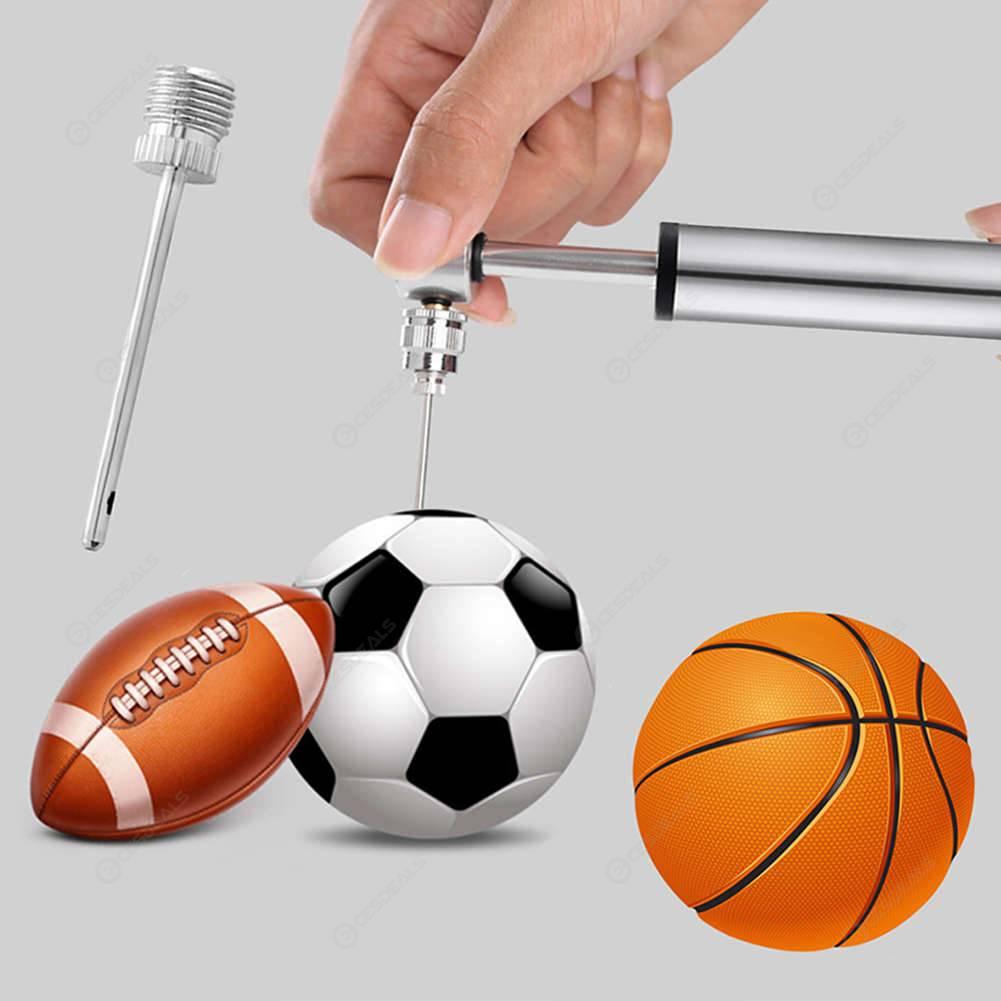 Mini Portable Air Pump Aluminum Bicycle Tire Inflator for Football Basketball