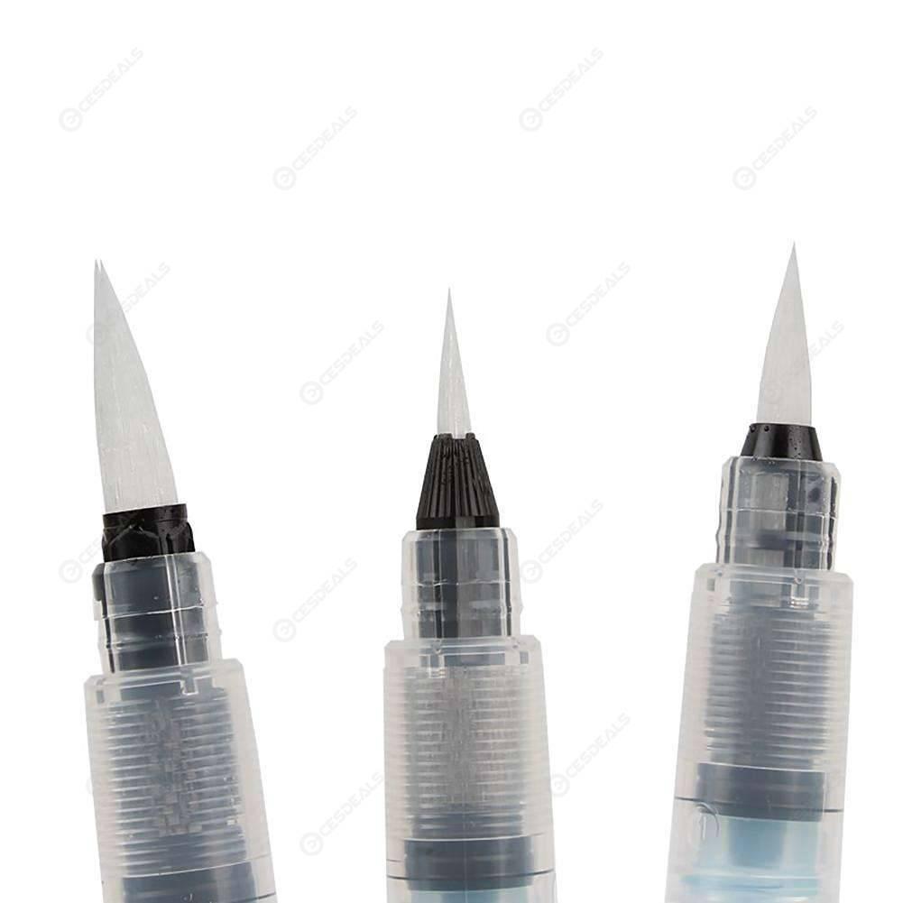 3pcs Fondant Cake Painting Pen Coloring Water Pen DIY Baking Decor Tools (A