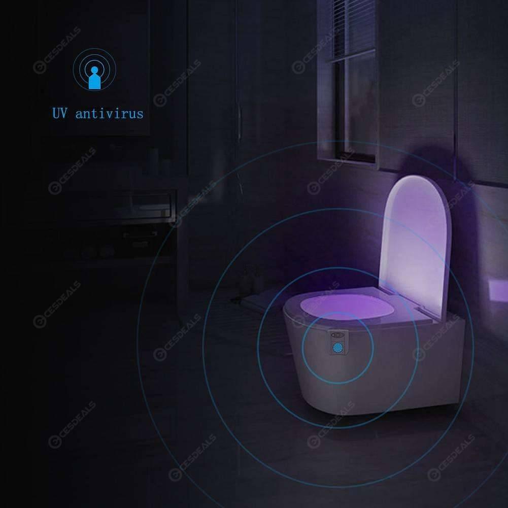 Capteur Wc Rétro Lampe Siège Toilette Éclairage Motion De 16 Couleurs Nuit Led Bol n0kNw8OXP