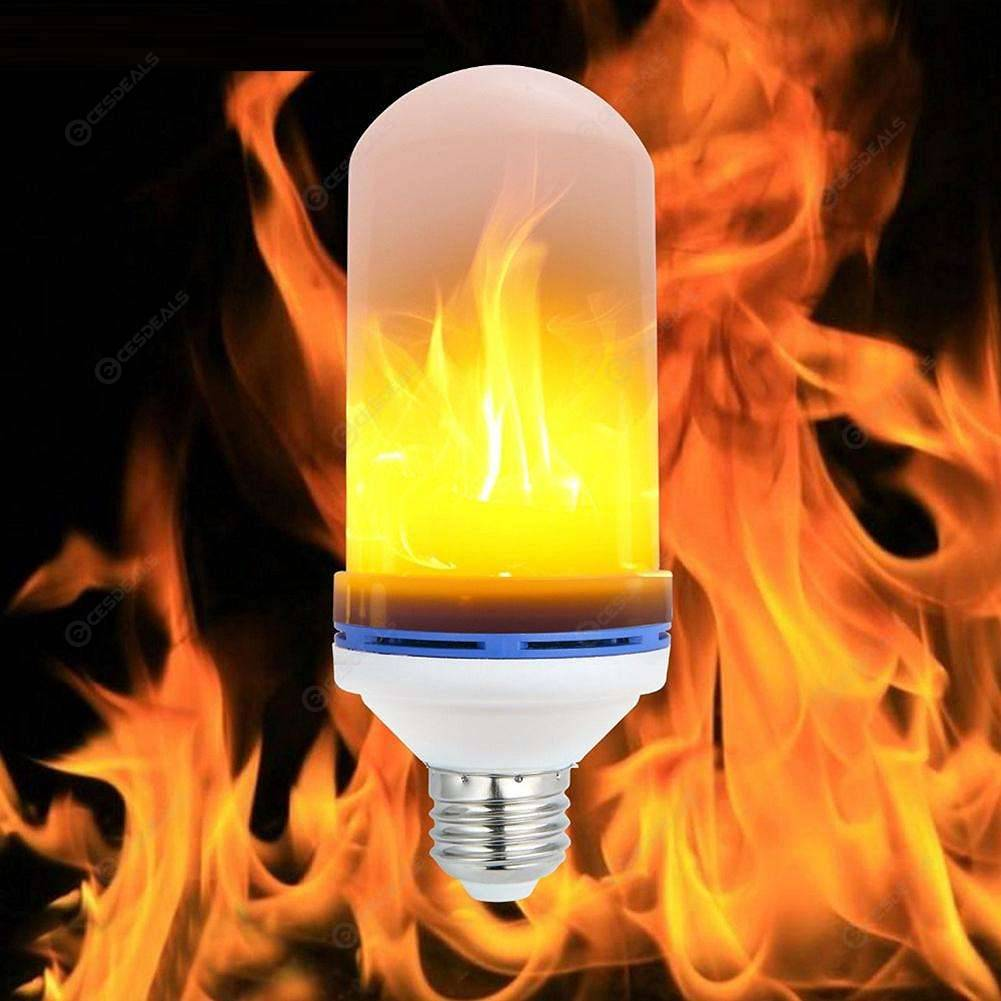 Creative 4 Modes Gravity Sensor Flame Light E27 9W Emulation Fire Bulb Lamp