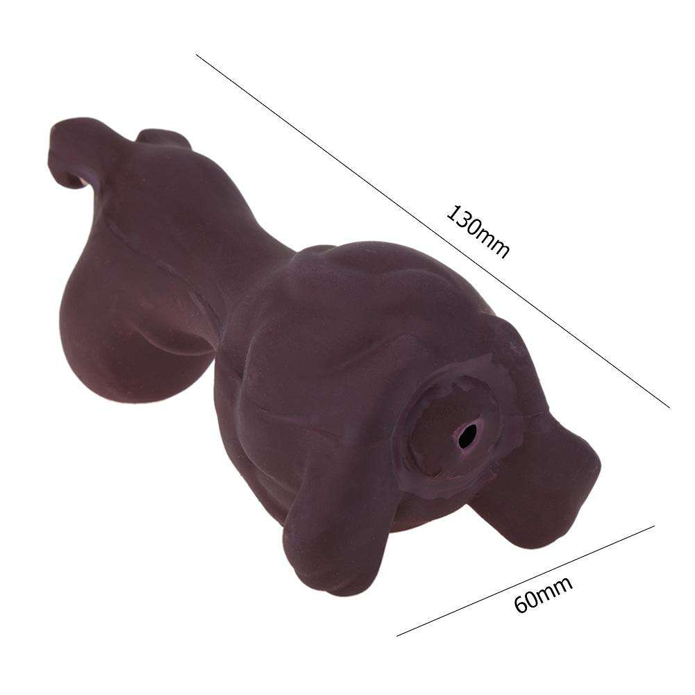 Dogs Puppy Latex Dog Squeaky Toy Pet Bite Teether Interactive Toy (Purple)