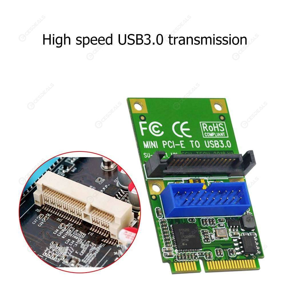 SSU U3121 Mini PCI-E Express to USB 3 0 19Pin 20Pin Header Card for Desktop