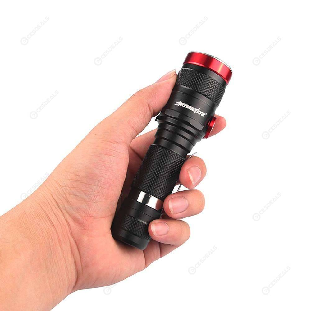 L2 LED 5 Mode USB Rechargeable Flashlight Torch Telescopic Zoom Riding Lamp