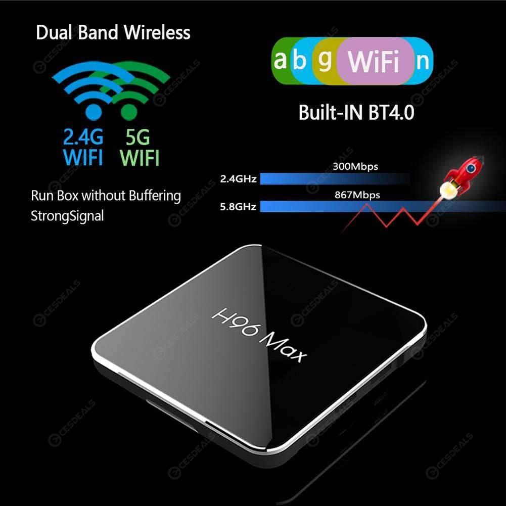 H96 Max X2 Android 8.1 TV Box 4+64GB 4K Quad Core WiFi USB Bluetooth Set-top Box