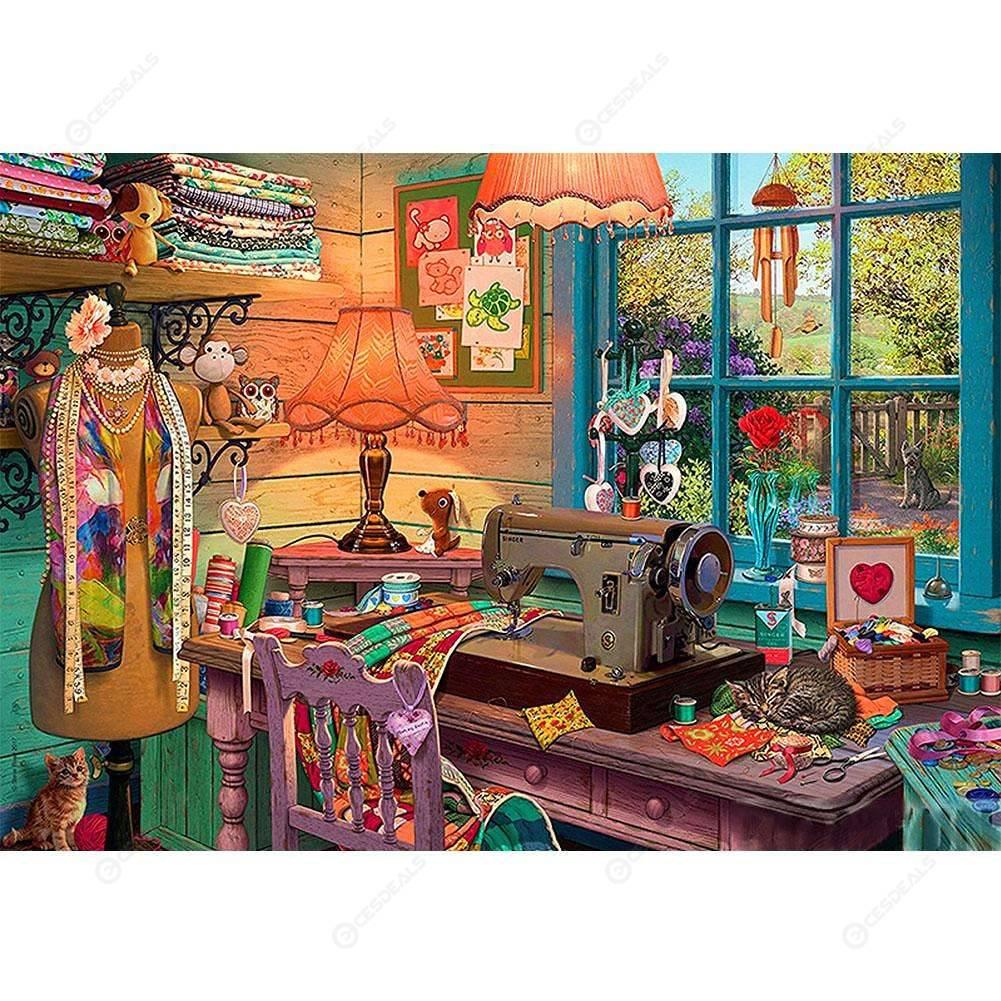 5D Diamond Painting Sewing Room Kit