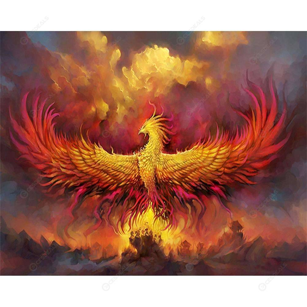 5D DIY Phoenix Bird Diamond Painting Embroidery Cross Stitch Craft Home Decor