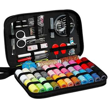 98pcs Multi-function Sewing Box Kit Set Needles for Hand Quilting Stitching