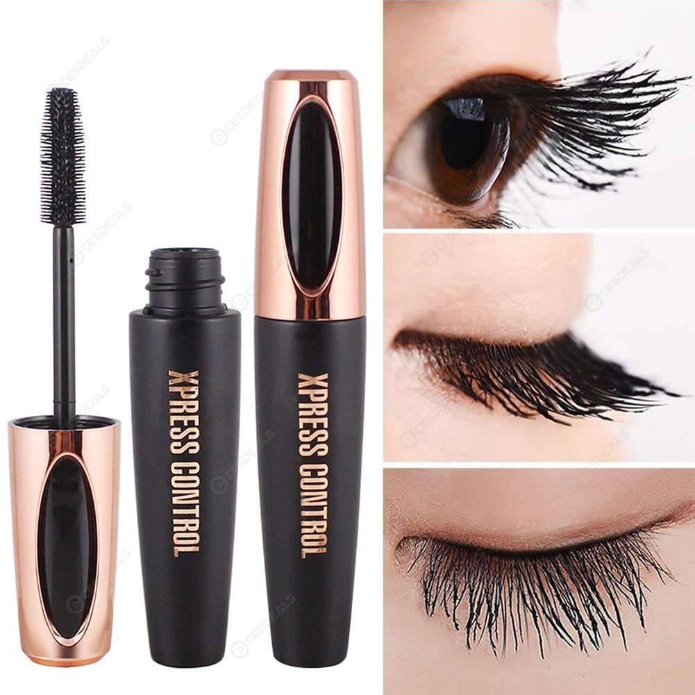 8633504befb 4D Silk Fiber Waterproof Eyelash Extension Black Thick Lengthen Mascara ...