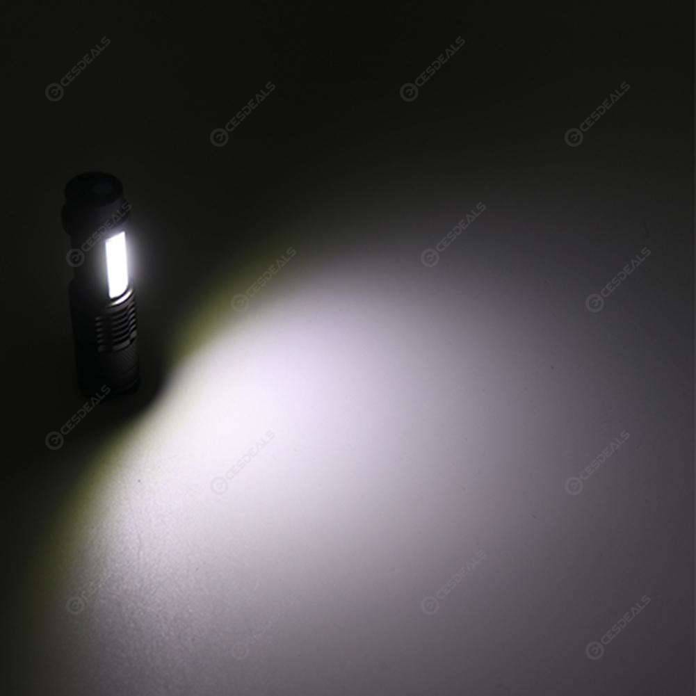 USB Rechargeable XPE+COB LED Flashlight Zoomable Waterproof Outdoor Torch