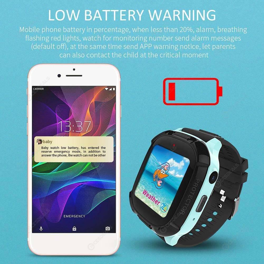 DS58 Touch Screen Children Smart Watch Phone GPS Tracker (English)(Black)
