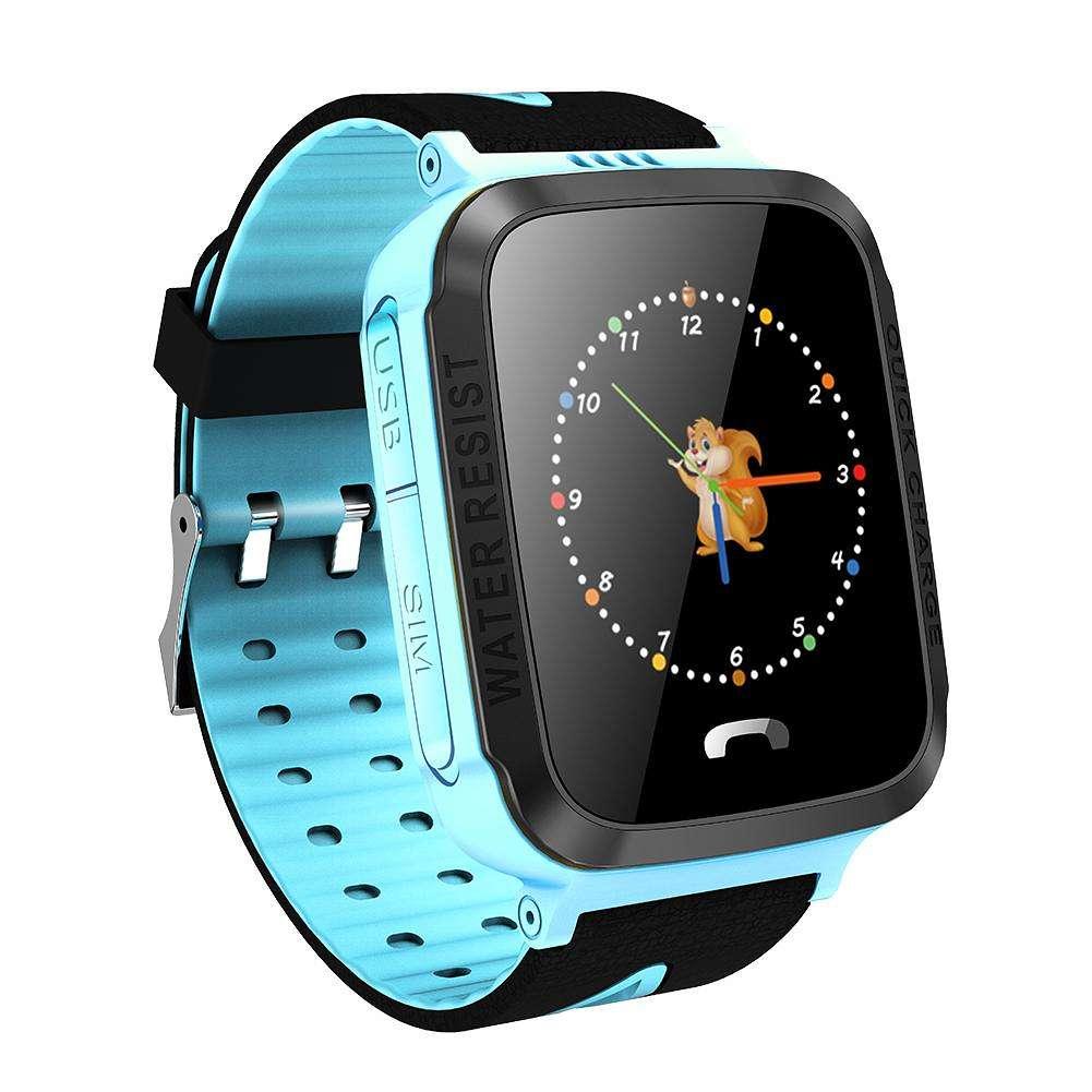 Y34 Waterproof Children Smart Watch Phone Touch Screen GPS Location (Blue)
