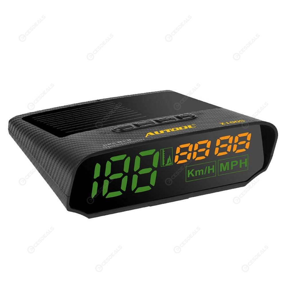 AUTOOL X100S Universal Car HUD GPS Speedometer MPH KM/h LED Head UP Display
