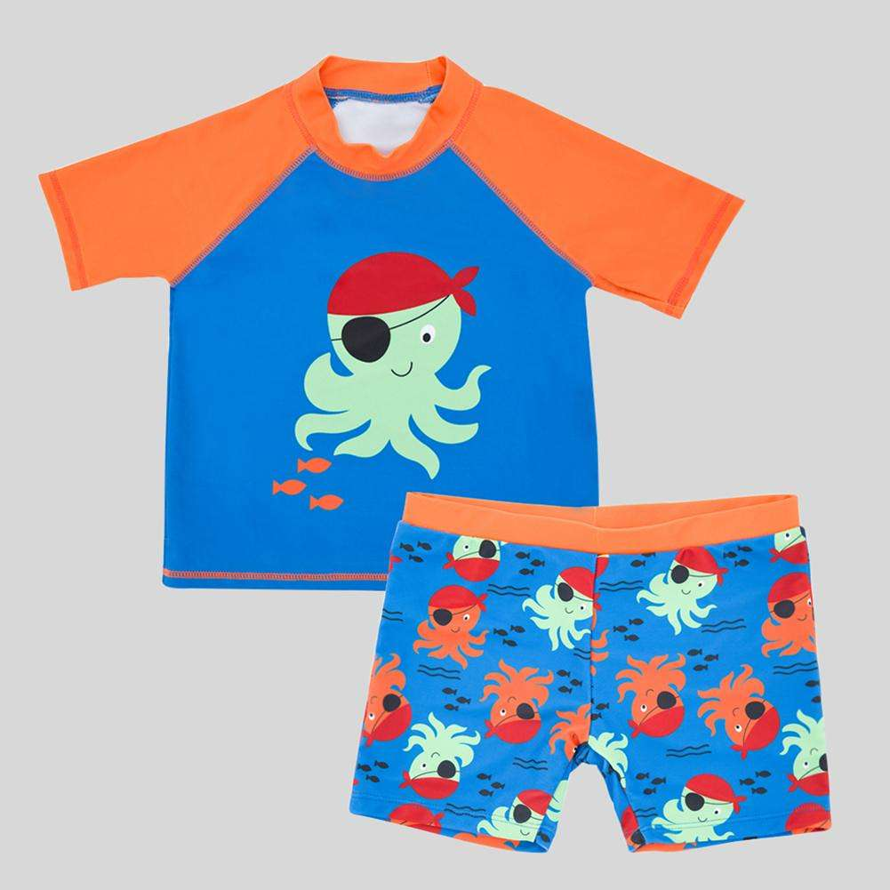 Boys Clothing Set,for 1-7 Years Old,3pcs Kids Baby Clothes Creative Short Sleeve T-Shirt Tops+Scarf+Trousers Infant Outfits Black