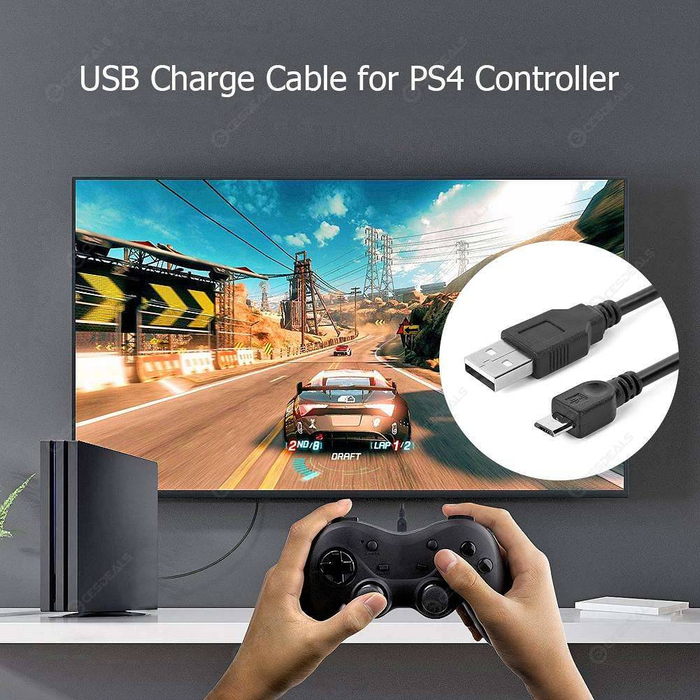 3m Micro USB Charger Cable for Sony Playstation PS4 Wireless Controller