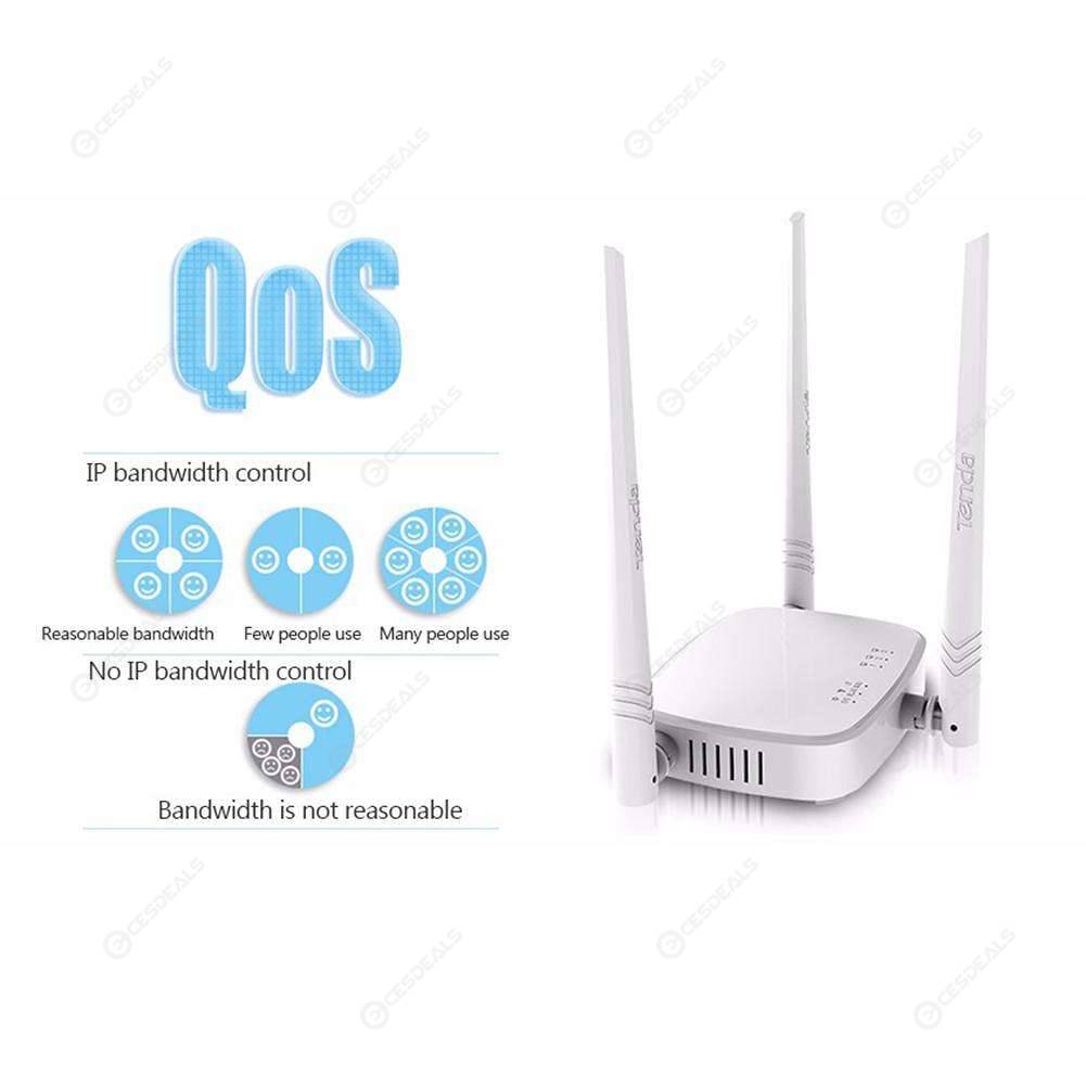 Tenda N318 300Mbps Wireless WiFi Router Repeater WISP AP Mode 1WAN+3LAN