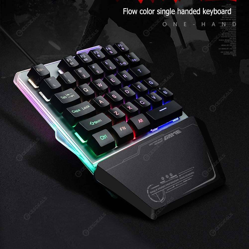 G40 One Hand Wired 35 Keys Gaming Keypad RGB LED Backlight Keyboard for PC
