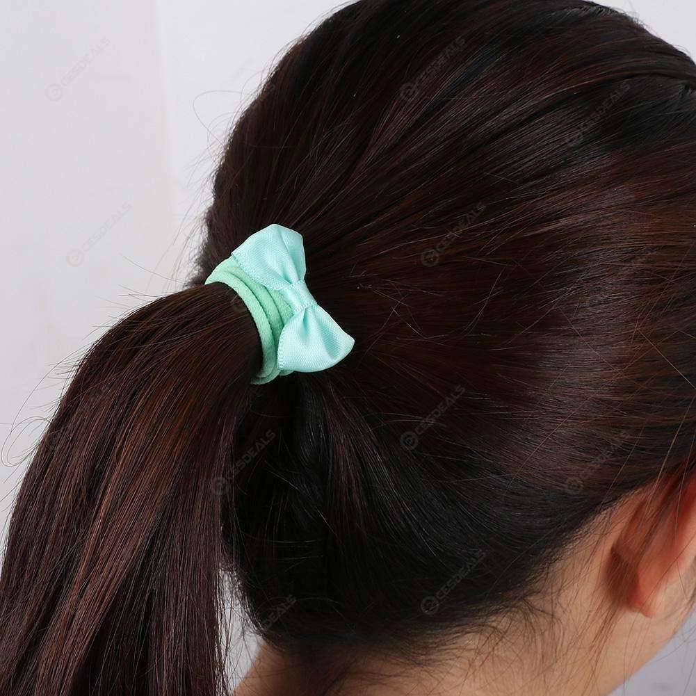 Bow Hair Band Kids Girl Candy Color Elastic Cute Headband (Multicolor)(1pcs