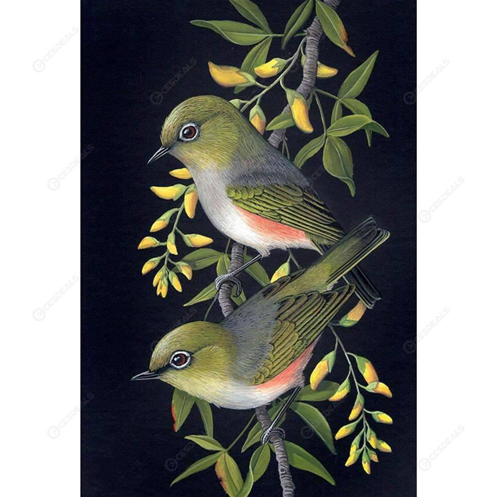 Art 5D Diamond Beautiful Bird Painting Embroidery Cross Stitch Kit Unframed