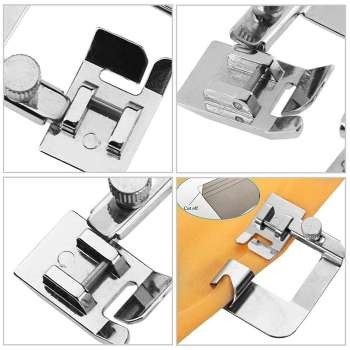 Multi-functional Domestic Sewing Machine Foot Presser Rolled Hem Feet (4/8)