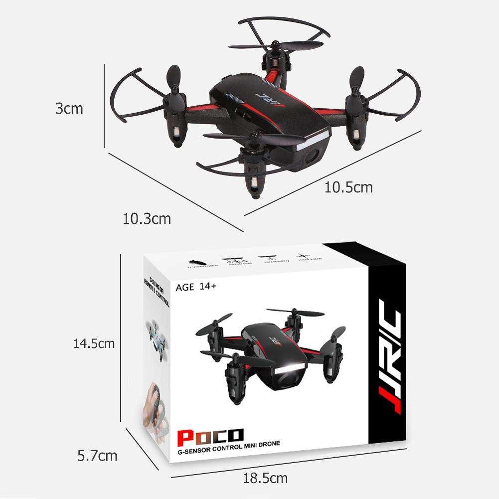 JJRC Poco RC Helicopter G-Sensor Mini Drone Headless Quadcopter Toy (Black)