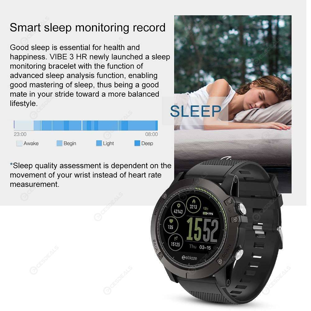 Zeblaze Vibe 3 Hr Rugged Smartwatch Heart Rate Monitor Smart Watch