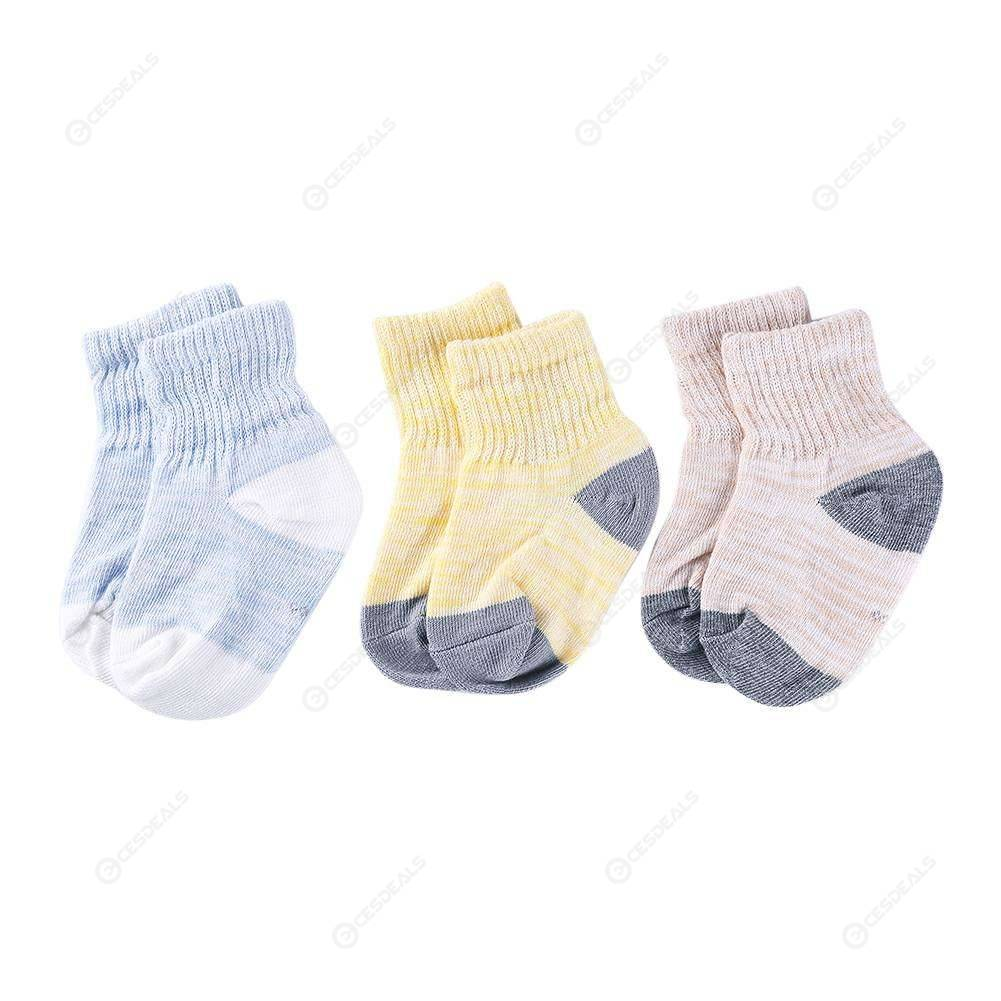 Socks For Baby,3pairs//set Baby Boys Girls Warm Socks Casual Kids Splicing Color Short Sock