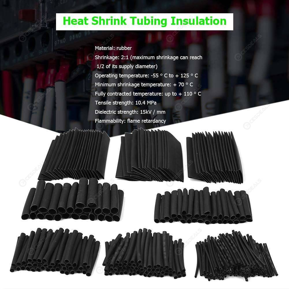 328pcs/set Insulation Shrinkable Tube Heat Shrink Tubing Wire Cable Sleeves