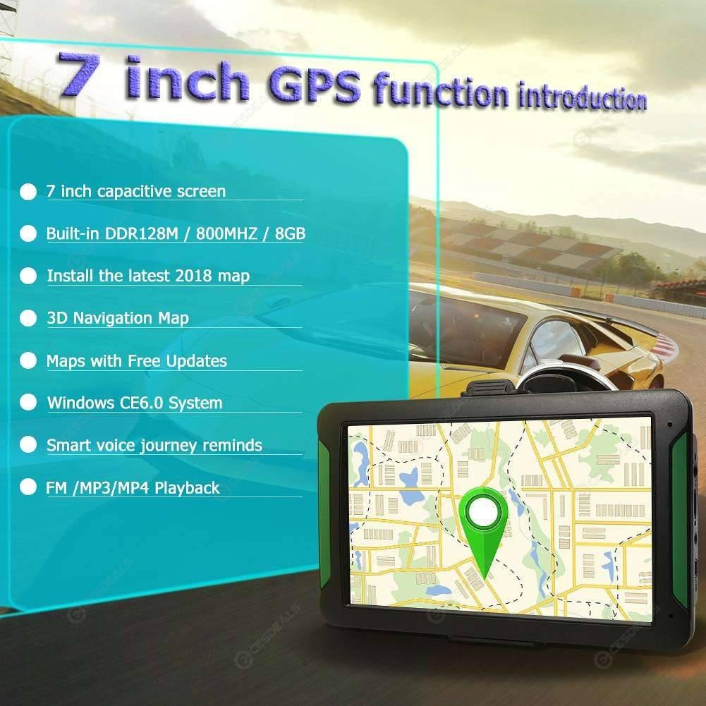 S7 7 Inch Touch Screen Car GPS Navigation GPS Navigator (North America)