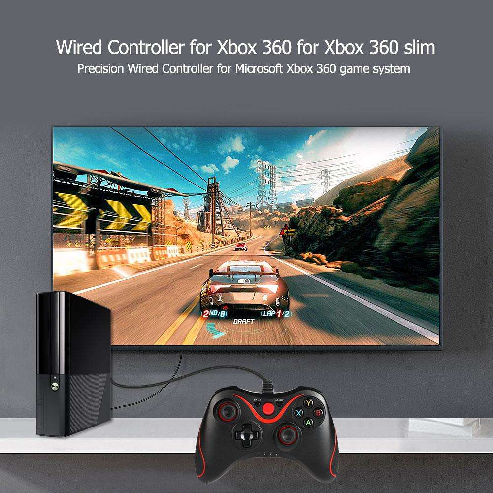 USB Wired Game Controller Gamepad for Microsoft Xbox 360 Xbox 360 Slim PC