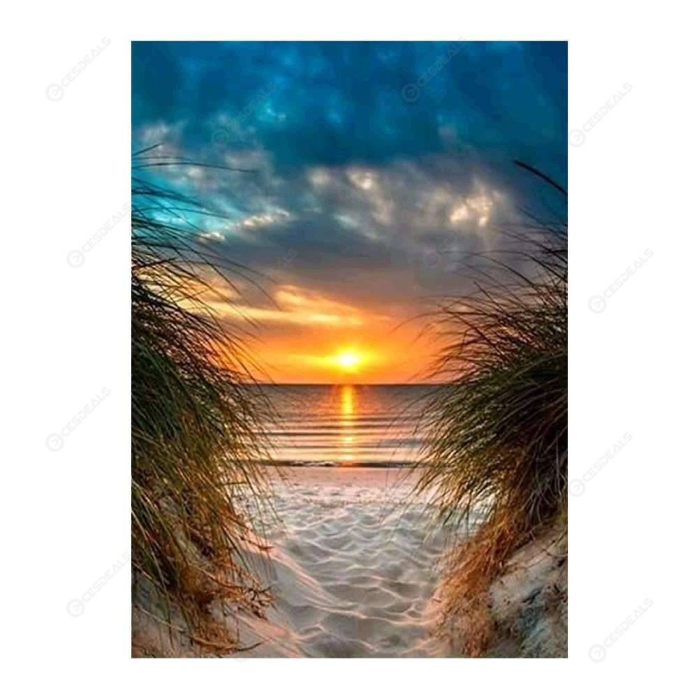 5D Full Drill Embroidery Sunset Scenery Arts Cross Stitch Diamond Painting New