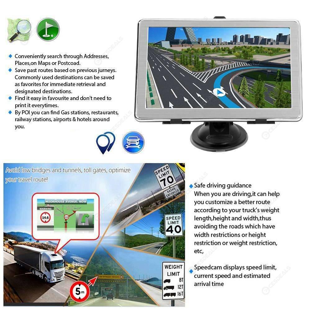 X8 7 Inch Ultra Thin Car GPS Navigation 8GB GPS Navigator (North America)
