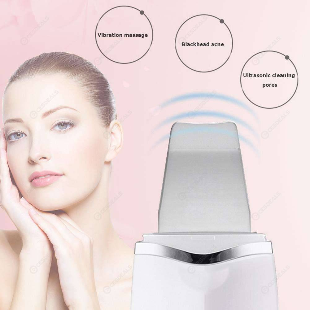 Ultrasonic Deep Face Cleaning Machine Skin Cleaner Dead Skin Remover (White