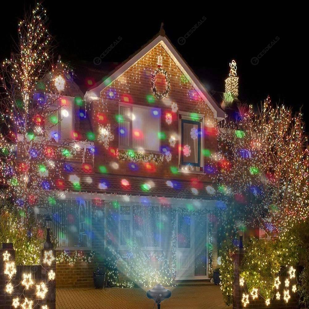 Christmas Projector Lights.Led Christmas Projector Lights Snowflakes Waterproof Snowfall Lamp Eu