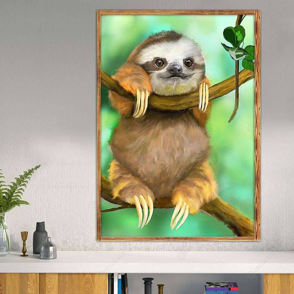 Full Drill Smile Sloth 5D Diamond Painting Cross Stitch Embroidery Crafts Decors