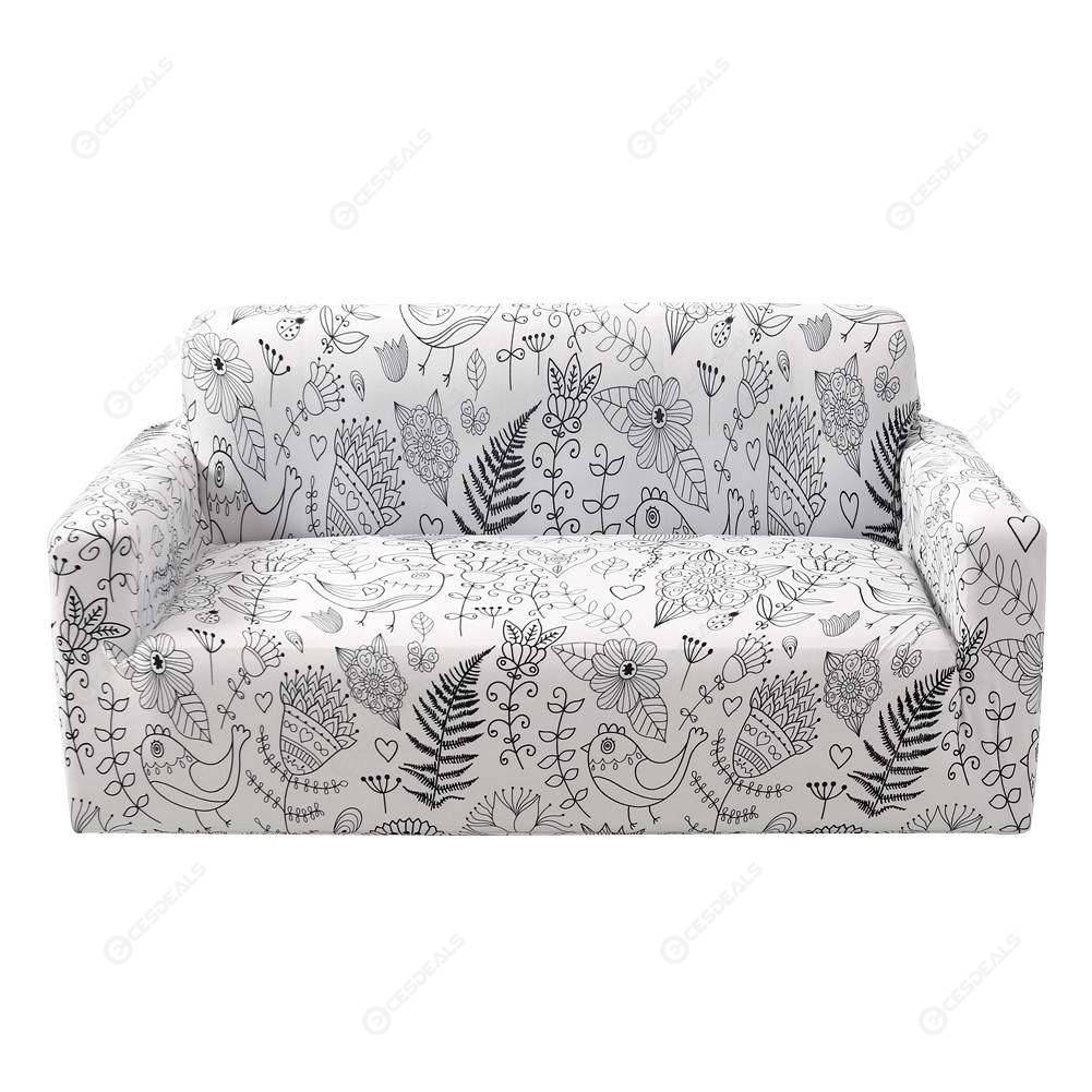 Stupendous Garden Print Tight Wrap Slipcovers All Inclusive Elastic Sofa Cover 3 Seat Pdpeps Interior Chair Design Pdpepsorg