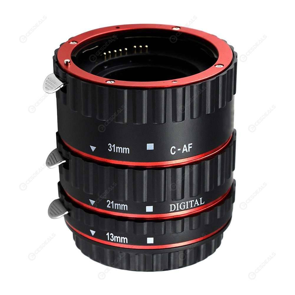 Macro Tubo de Extensión Anillo Auto Focus para Canon EOS Cámara EF EF-S LENTE