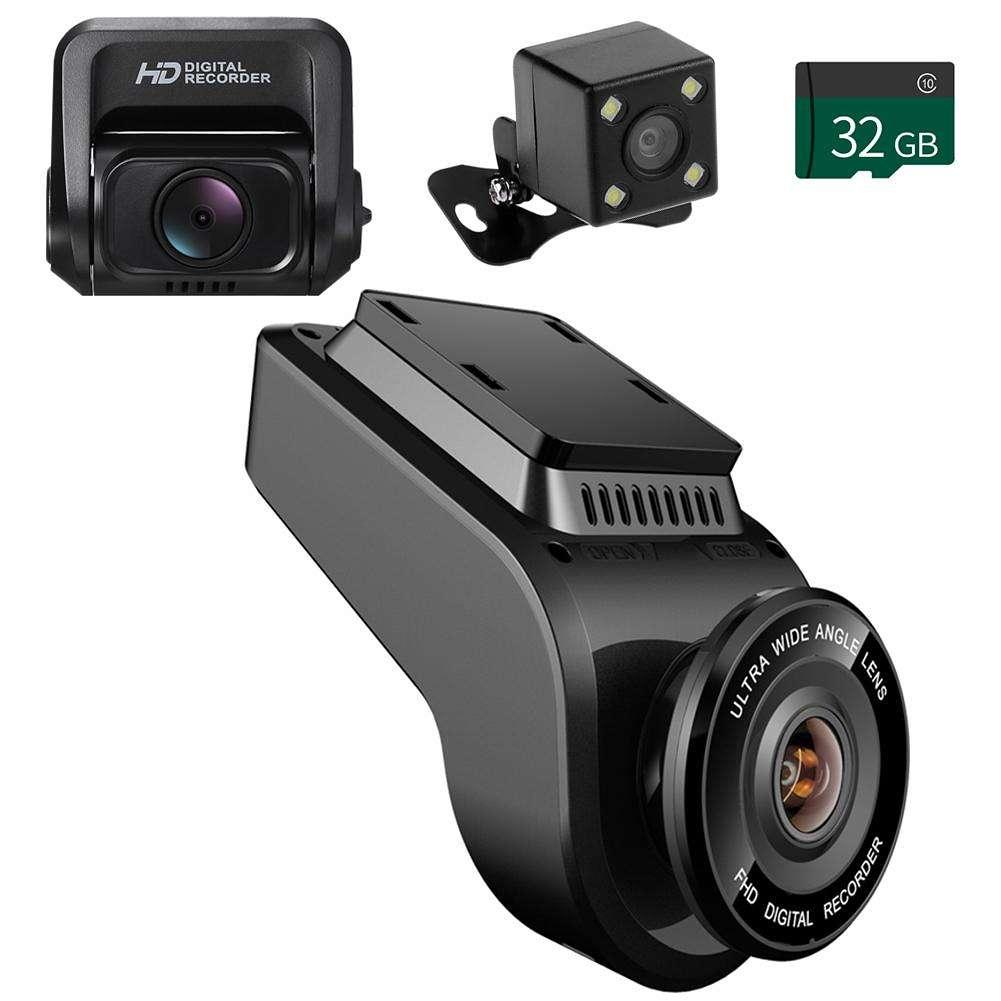 T691C 4K 2160P+ Rear 1080P FHD Dash Cam Car DVR Rearview Camera+TF Card