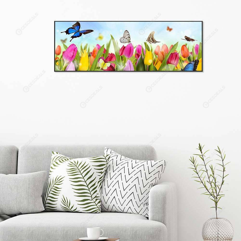 Flower Fairy 12X12 inches 5D Diamond Painting kit Complete Diamond Embroidery Painting DIY Embroidery Cross-Stitch for Home Wall Decoration